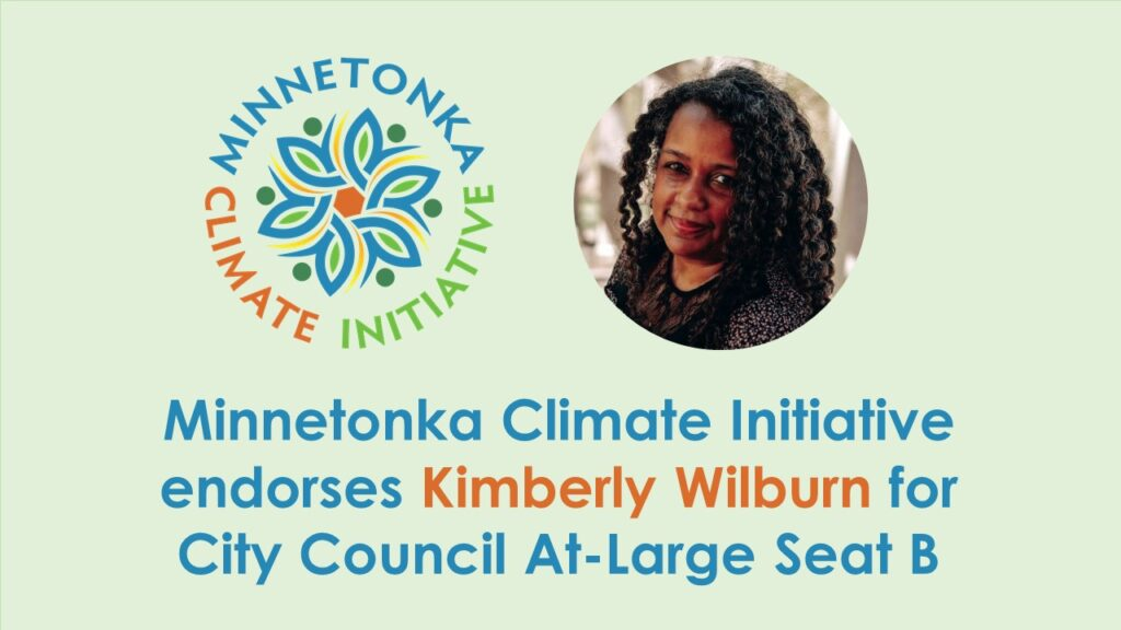 Minnetonka Climate Initiative Endorses Kimberly Wilburn for City Council At-Large Seat B