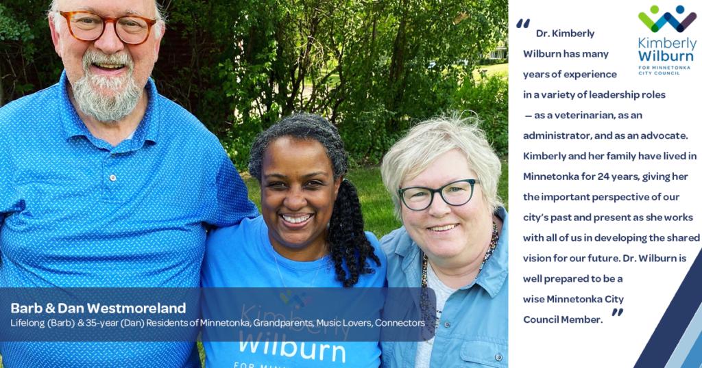 Barb & Dan Westmoreland Endorsement