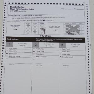 Minnetonka Mock Election Ballot