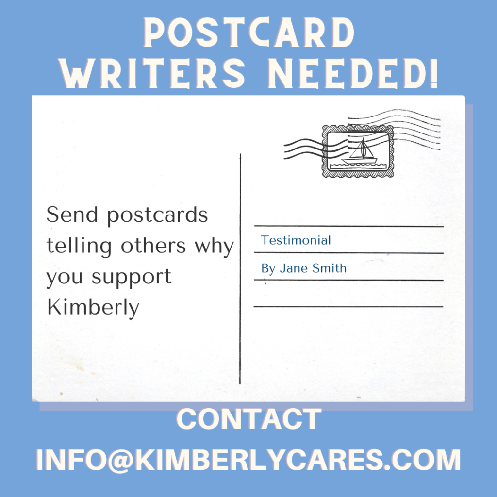 Postcard writers needed